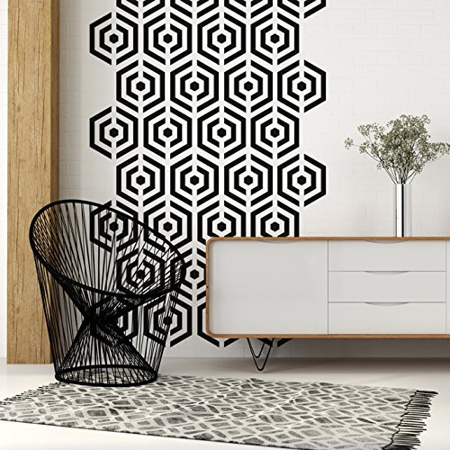 Amazon com: Mid Century Decals, Hexagon Wall Decal