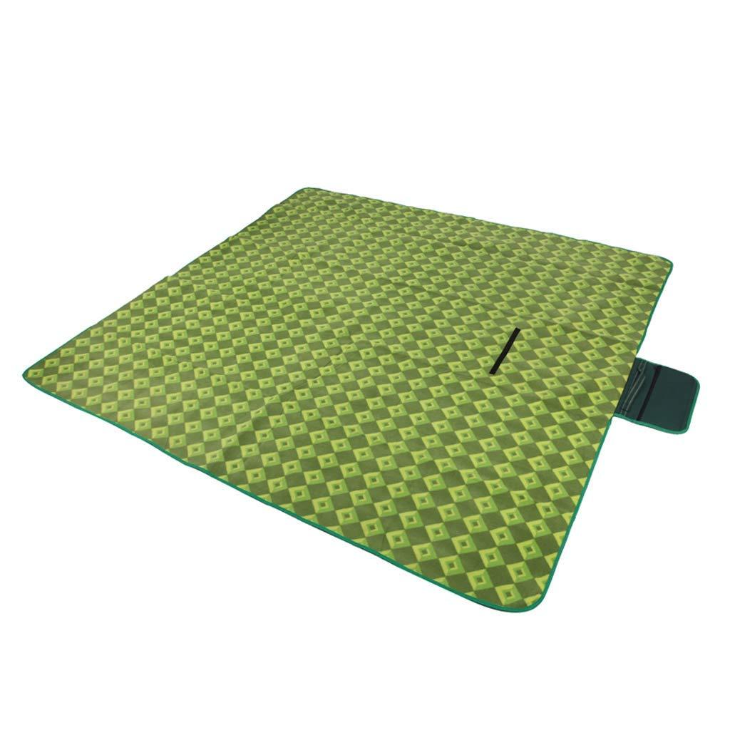 ピクニック毛布 ピクニックマット毛布、防水と防湿絶縁屋外キャンプビーチマット  Green B07RZ4F46D