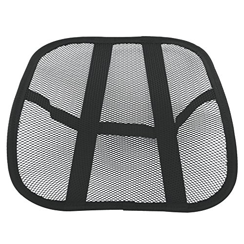 Travelon Cool Mesh Back Support System, Black, One Size Cool Mesh Back Support