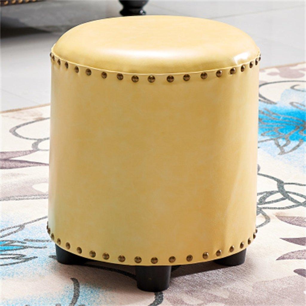Wooden Stool : Europeo/Sofá Taburete/Redondo/Taburete/Taburete/Taburete/Taburete Opcional (Color : Stool 7) 9a63f2