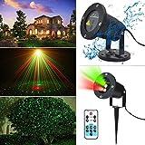 KLAREN® RED and Green 2 Color Laser Landscape Projector Light w/ Remote. Holiday Lighting, Christmas Lights