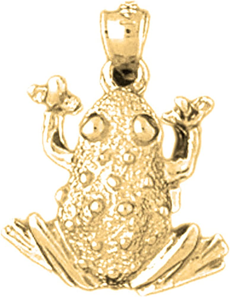 Rhodium-plated 925 Silver Frog Pendant with 18 Necklace Jewels Obsession Silver Frog Necklace