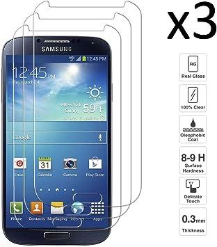 iGlobalmarket [Pack Ahorro - 3 Unidades] Protector de Pantalla Samsung Galaxy S4, Vidrio Templado, sin Burbujas, Alta Definicion, 9H Dureza, Resistente a Arañazos: Amazon.es: Electrónica