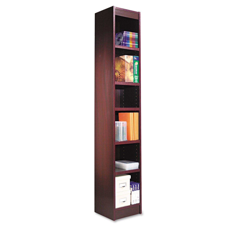 alera bcs my narrow profile bookcase wood veneer