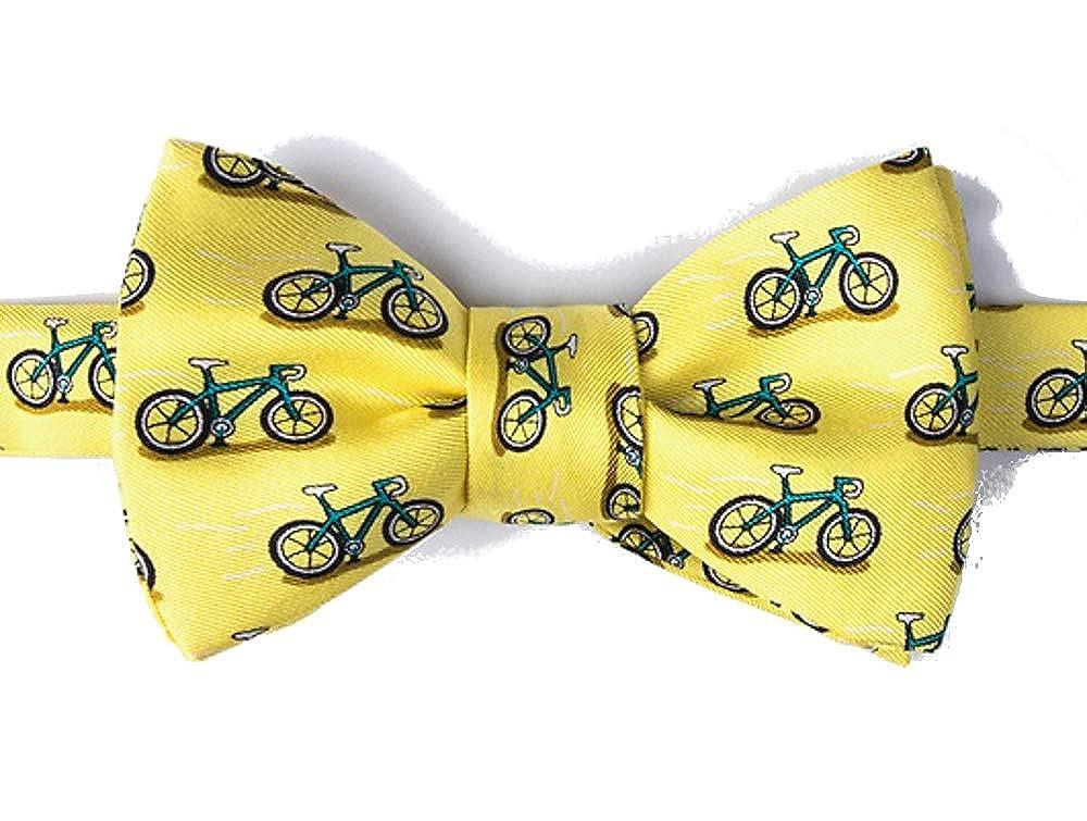 Alynn Hipster - Corbata para hombre de 100% seda amarilla para ...