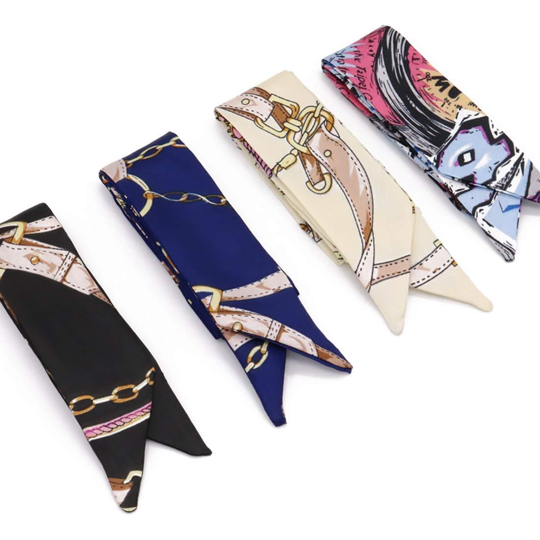 LibbyPet Bamboo Handbags for Women Handmade Bamboo Bag Summer Beach Tote bag (5pcs Scarves #2) by LibbyPet (Image #4)