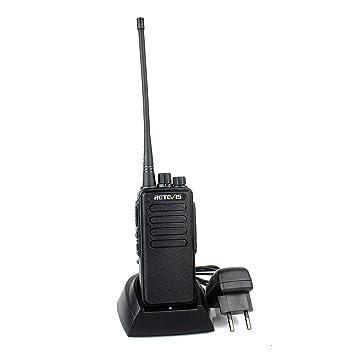 Rtevis RT1 Walkie Talkie Largo Alcance Batería Recargable 3000mAh 16 Canales CTCSS/DCS VOX 1750Hz Detector de Escaneo de Alarma Tot Antena (Negro, ...