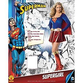 Secret Wishes Women's Adult Supergirl Costume