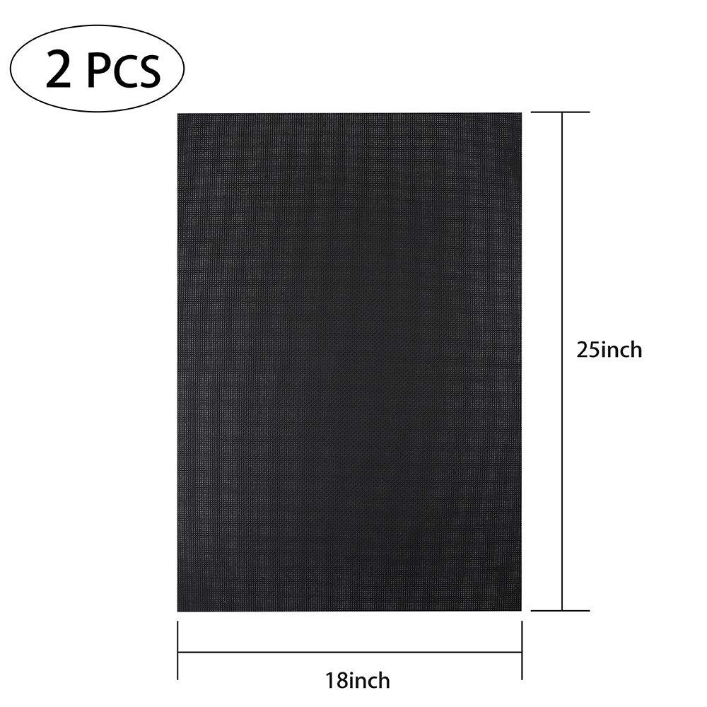 B07N431LB1 Caydo 2 Pieces 14 Count Classic Reserve Aida Cloth Cross Stitch Cloth, 25 by 18-Inch Big Size, Black 61mRy2B9qCgL
