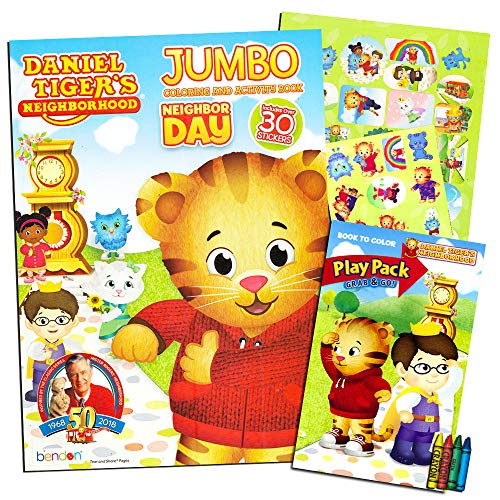 Daniel Tiger Coloring and Activity Book Set with Stickers and Crayons -