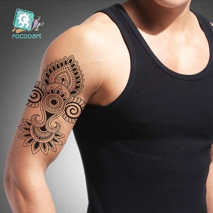 3 Unids-Flor Brazo Manga Tatuaje boceto Lobo Tigre Impermeable ...