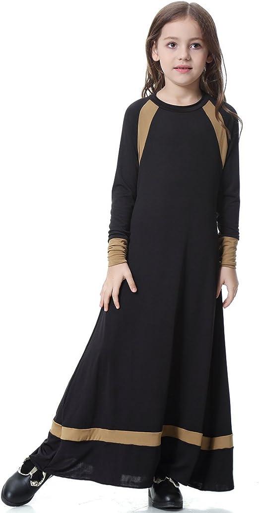 BMSGM Medio Oriente Arabia Saudita Lslamic Étnico Chica Algodón Ocio Falda Larga RobeKaftan,Black,2XL: Amazon.es: Hogar