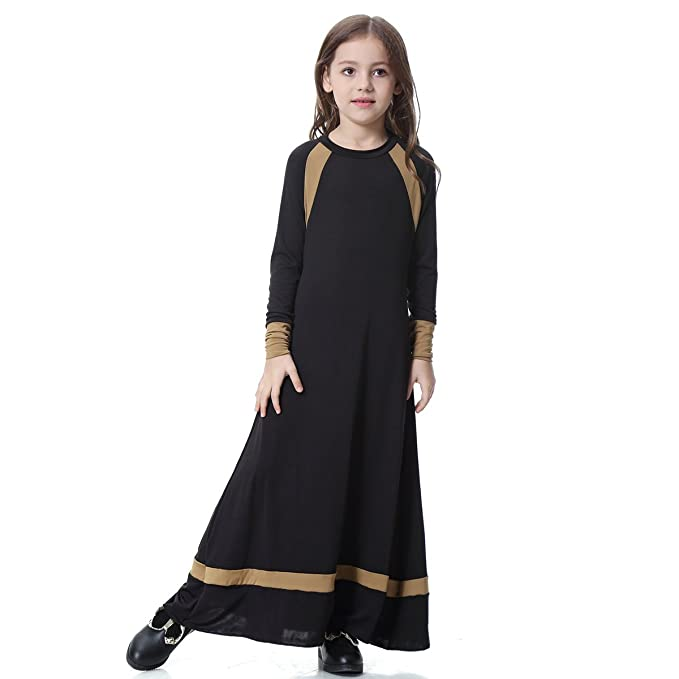 d25be25d0 Amazon.com  Muslim Dresses for Girls Kids Abaya Robe Gown Arab Islam ...