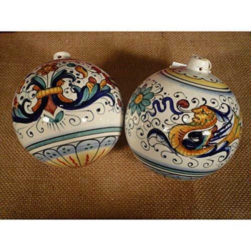 Palla di Natale artigianale in ceramica di Deruta fatta a ...