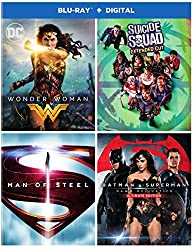 DC 4-Film Bundle: Wonder Woman/Suicide Squad: Extended Cut/Batman v Superman: Dawn of Justice Ultimate Edition/Man of Steel [Blu-ray]