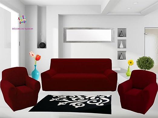 1 Funda de sofá de 3 plazas + 2 funda de sillón. Fabricación ...