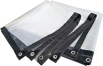 Lonas A Prueba De Transparencia Lona Engrosada Con Ojales Lona Transparente Tapa De Lona Impermeabilizante Pergola Multiuso Pabellón Reversible Para Exteriores (Color : Clear-2x4m/6x12ft): Amazon.es: Coche y moto