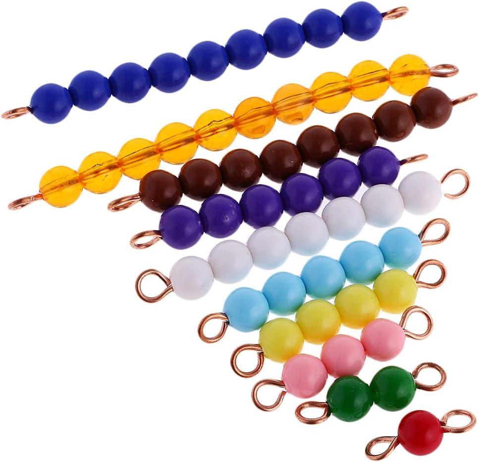 Montessori Addition /& Subtraction Strip Board Set Kid Maths Toy+10xBeads Bar