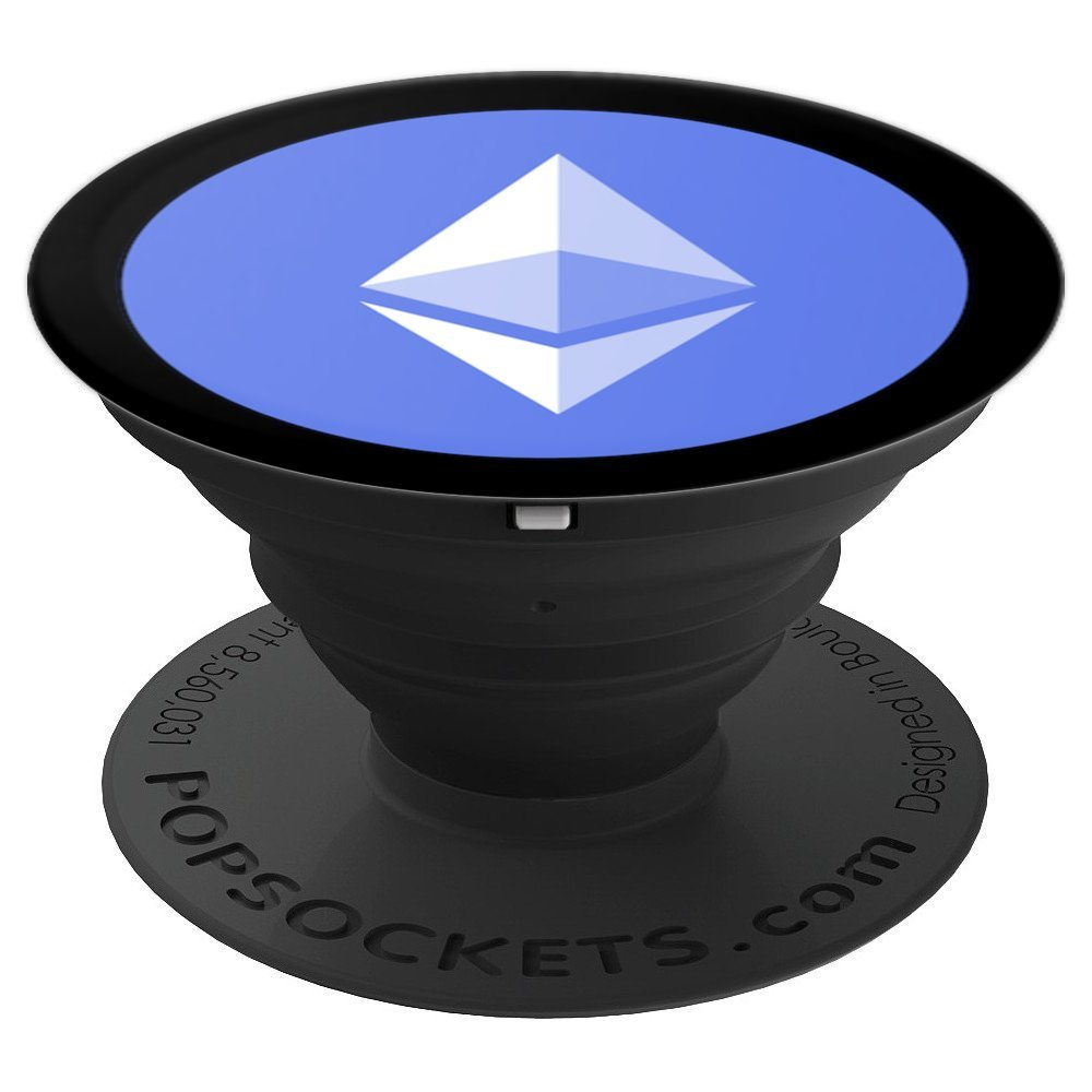 Ethereum Cryptocurrency - PopSockets Grip and Stand for Phones and Tablets by Bitcoin ETH EOS Crypto Pops
