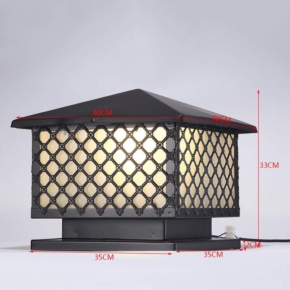 WHYA Victoria Vintage Plaza E27 pilar de luz tradicionales Negro ...