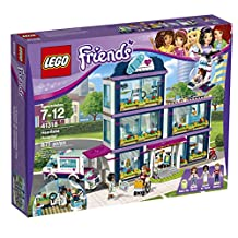 LEGO Friends Heartlake Hospital Building Kit, 871 Piece