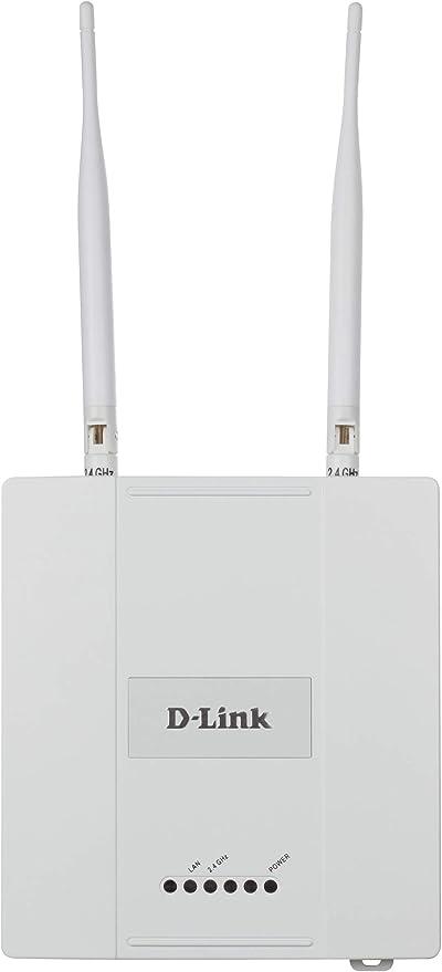 D-Link DAP-2360 - Punto de acceso PoE WiFi N 300 para interior, chasis metálico, 802.11n/g/b hasta 300 Mbps en 2.4 GHz, 1 puerto Gigabit 10/100/1000 ...