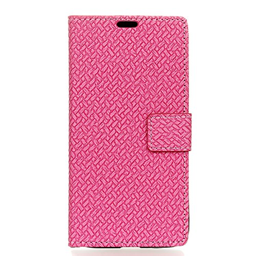 Coque iPhone 7 Plus Moonmini® Flip Folio Portefeuille Carte Slot PU Cuir Etui en cuir de protection avec Fermeture Magnétique pour iPhone 7 Plus Rose vif