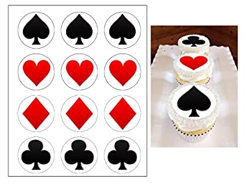 Edible Suits Cupcake Toppers Casino Las Vegas Birthday Party