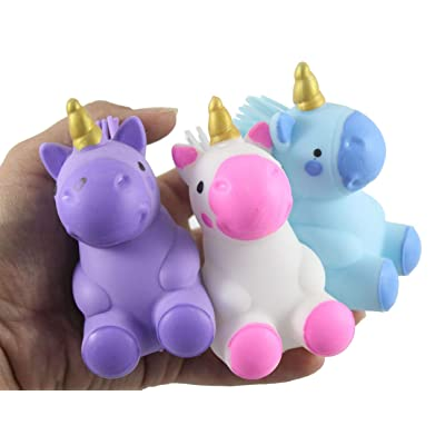 Curious Minds Busy Bags 3 Puffer Unicorn Toys - Indoor Soft Hairy Air-Filled Sensory Toy Puffer Balls - Sensory Fidget and Stress Balls - OT Autism SPD: Toys & Games