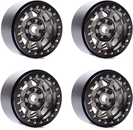 4pcs Alloy Metal Center Hub Caps for RC 1//10 1.9/'/' Beadlock Wheels Rims Crawler
