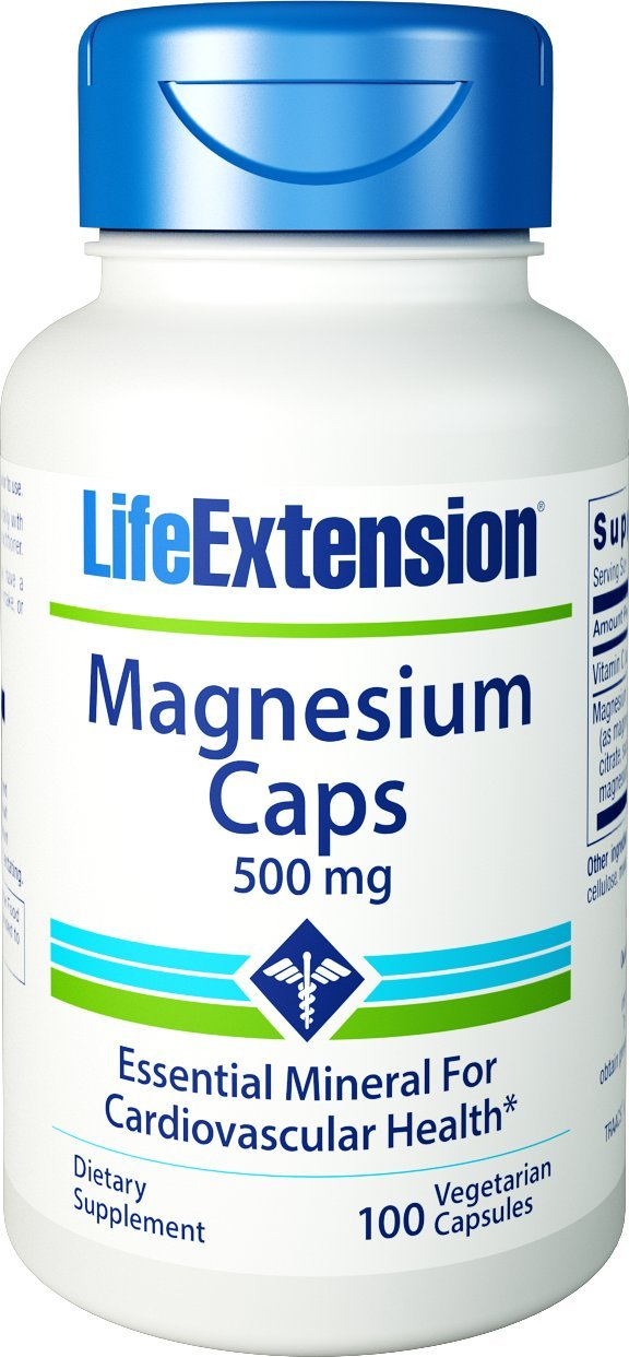 Life Extension Magnesium Caps - 500mg x100Vcaps: Amazon.es ...