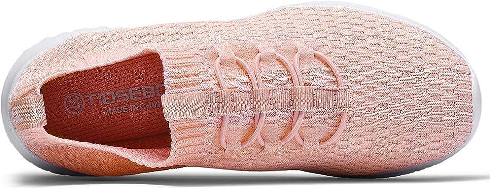 TIOSEBON - Scarpe da ginnastica da donna, leggere, traspiranti 2123 Rosa