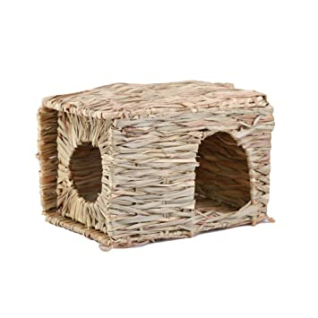 Folding Straw House Diy Rabbit Hamster Hedgehog Guinea Pig