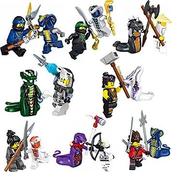 BELA ninjago minifigures set of 16 mini figures all the ninjas  lloyd,cole,zane,jay,kai,nya, plus  serpents,fangpyre,fangtom,venomari,acidicus,skalidor