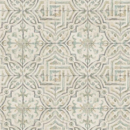 Warner 3117-12335 Sonoma Olive Spanish Tile Wallpaper,