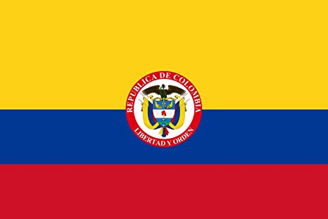 DIPLOMAT-FLAGS That is used by the President of Colombia Flag | landscape flag |