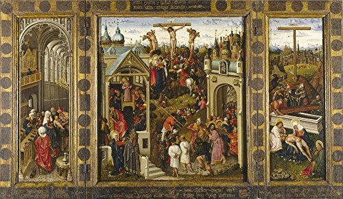 The Perfect Effect Canvas Of Oil Painting 'Alincbrot Louis Passages From The Life Of Christ Or Crucifix Triptych 1440 50 ' ,size: 24 X 41 Inch / 61 X 105 Cm ,this Replica Art DecorativeCanvas Prints Is Fit For Basement Decoration And Home Decor And Gifts