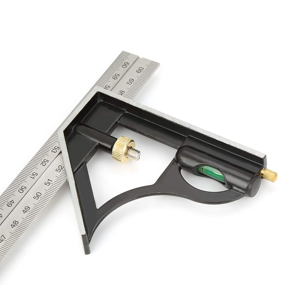 Combination Square,600mm Digital Right Angle Rule,Stainless Steel Adjustable Engineer Measuring Tool,with center gauge and protractor