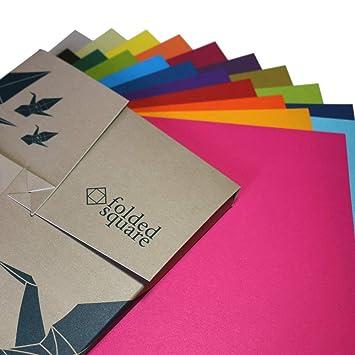 japanisches Origamipapier in verschiedenen Größen Origamipapier braun