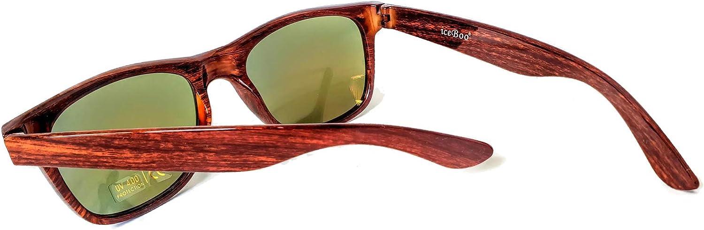 reflective plastic lens UV400 iceBoo/® Sunglasses lightweight plastic frame