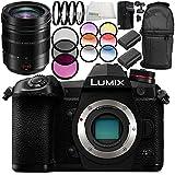 Panasonic Lumix DC-G9 Mirrorless Digital Camera with Leica DG Vario-Elmarit 12-60mm f/2.8-4 ASPH. POWER O.I.S. Lens 10PC Accessory Bundle – International Version (No Warranty)