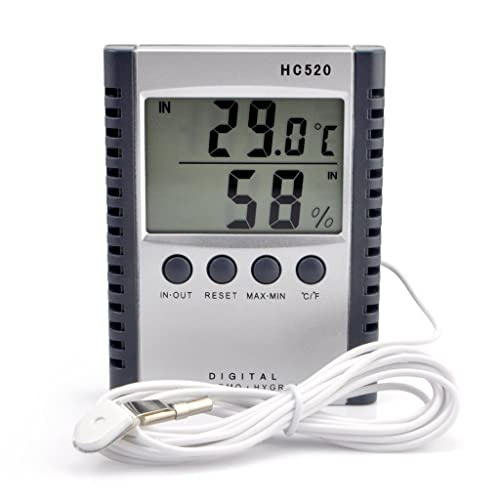 Digital Thermometer With A Sensor Wire Amazon Com