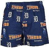 Detroit Tigers Mens Blue Fusion Boxer Shorts by Concepts Sports