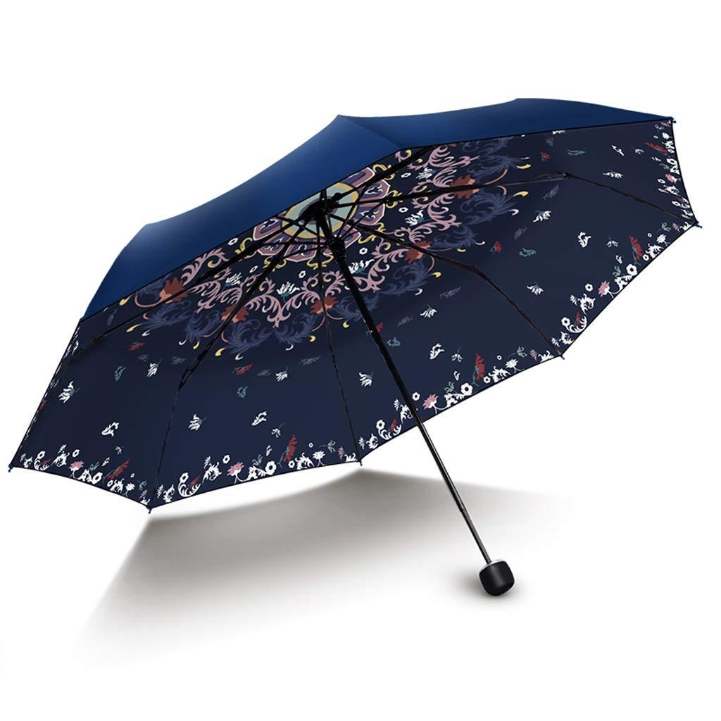 Parasole Ombrello Anti-Pioggia a Pioggia con Protezione UV di Alta qualità THANSANDAU (colore   Marina)