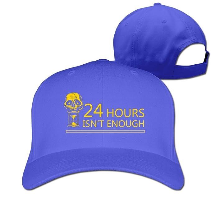Negro 24 horas no es suficiente ajustable Gorra de golf gorro, Azul real: Amazon.es: Deportes y aire libre