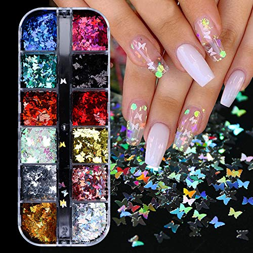 12 Colors Butterfly Glitter