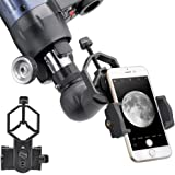 ANQILAFU ユニバーサル 携帯電話のアダプタマウント は - iPhoneのソニーサムスンモト用など - 両眼単眼スポッティングスコープ望遠鏡と顕微鏡との互換性の世界の自然を記録します フィット (スマートフォン用アダプター)