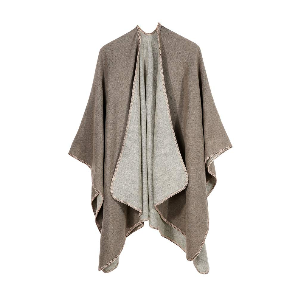 Excellent Women's Fall Winter Scarf Cloak Tassel Cape Mantle Scarf Quick Gentle Kerchief Wrap Shawl Scarves (Color : Beige, Size : 51.1 x 59.06 Inch') by Excellent