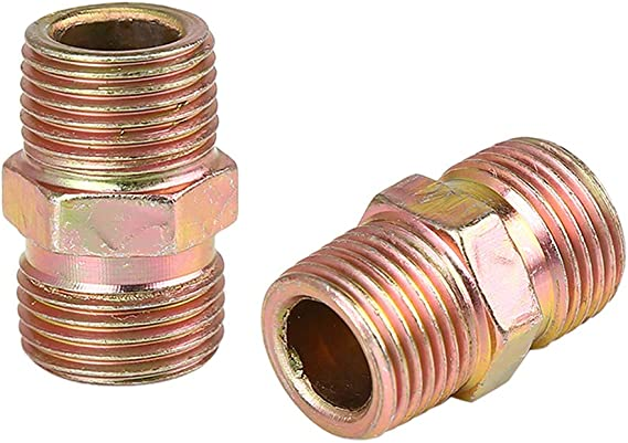 X AUTOHAUX 2pcs 3//8 NPT to M16 x 1.5mm Male Air Hose Fitting Connector Adapter