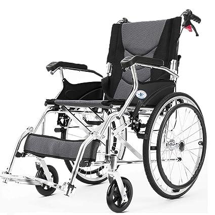DPPAN Drive Medical Transport Silla de ruedas Plegado ligero, Aleación de aluminio que levanta los